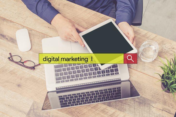 Searching Digital Marketing word on Internet