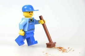 Lego Janitor Cleaning